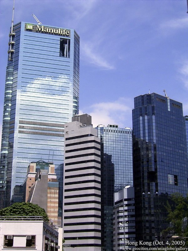 Canadian insurer Manulife's Asia regional headquarters is in Hong Kong.