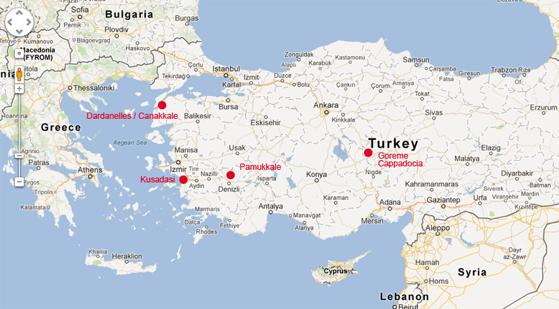 Turkey from Google Maps